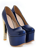 cheap -Women's Shoes Patent Leather Spring Comfort Heels Stiletto Heel Gray / Blue / Pink