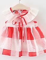 Недорогие -малыш Девочки В клетку Без рукавов Платье