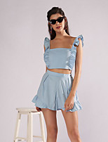 cheap -Women's Basic Tank Top - Solid Colored Pant Strap