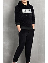 cheap -Men's Basic Activewear Set - Letter