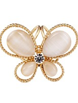 cheap -Women's Stylish Brooches - Butterfly Sweet, Fashion Brooch Gold / Silver For Formal / Festival