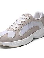 Недорогие -Муж. Комфортная обувь Сетка Наступила зима На каждый день Кеды Черный / Оранжевый / Красный