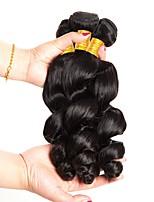 cheap -3 Bundles Peruvian Hair Wavy Human Hair Natural Color Hair Weaves / Hair Bulk / Tea Party Favors / One Pack Solution 8-28 inch Natural Color Human Hair Weaves Best Quality / New Arrival / Hot Sale