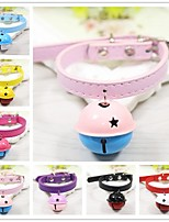 cheap -Rodents / Dogs / Cats Collar With Bell Punk / Rock PU Leather / Polyurethane Leather Red / Blue / Pink