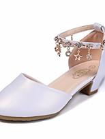 Недорогие -Девочки Обувь Полиуретан Весна & осень Детская праздничная обувь / Крошечные Каблуки для подростков Обувь на каблуках для Белый
