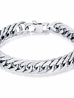 cheap -Men's Stylish / Thick Chain Chain Bracelet / Hologram Bracelet - Titanium Steel Creative, Courage Stylish, European, Trendy Bracelet Silver For Street / Going out