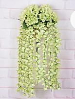 Недорогие -Искусственные Цветы 1 Филиал Односпальный комплект (Ш 150 x Д 200 см) Стиль Pастений Цветы на стену