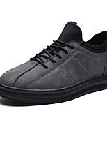 Недорогие -Муж. Полиуретан Лето Удобная обувь Кеды Черный / Серый