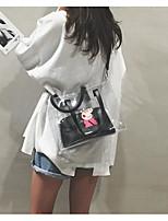 cheap -Women's Bags PVC(PolyVinyl Chloride) Shoulder Bag Pattern / Print White / Black / Beige