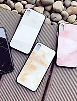 cheap -Case For Apple iPhone X / iPhone 8 Pattern Back Cover Marble Hard Tempered Glass for iPhone X / iPhone 8 Plus / iPhone 8