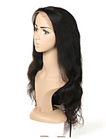 cheap -Human Hair Full Lace Wig Malaysian Hair Body Wave Wig Asymmetrical Haircut 130% / 150% / 180% Odor Free / Woven / New Arrival Black Women's Mid Length Human Hair Lace Wig / Fashion