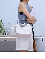 cheap -Women's Bags Canvas Shoulder Bag Solid White / Black / Yellow