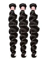 Недорогие -3 Связки Бразильские волосы Естественные кудри Натуральные волосы One Pack Solution / Плетение 10-28 дюймовый Ткет человеческих волос Расширения человеческих волос Все