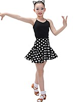cheap -Latin Dance Outfits Girls' Training Chinlon Split Joint Sleeveless Natural Skirts / Leotard / Onesie