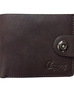 cheap -Unisex Bags PU(Polyurethane) Wallet Buttons Black / Dark Brown