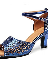 cheap -Women's Latin Shoes PU(Polyurethane) Heel Slim High Heel Dance Shoes Blue