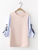 cheap -Women's Shirt - Striped Patchwork
