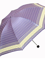 cheap -Polyester / Stainless steel All Sunny and Rainy Folding Umbrella