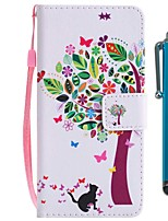 cheap -Case For Sony Xperia XZ2 Compact / Xperia XZ2 Wallet / Card Holder / with Stand Full Body Cases Cat / Tree Hard PU Leather for Sony Xperia XZ2 / Sony Xperia XZ2 Compact / Xperia XZ1 Compact