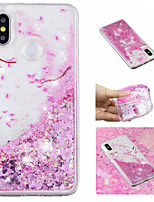 cheap -Case For Xiaomi Redmi Note 5 Pro / Mi 8 Flowing Liquid / Pattern / Glitter Shine Back Cover Glitter Shine / Flower Soft TPU for Xiaomi Redmi Note 5 Pro / Xiaomi Redmi Note 4X / Xiaomi Redmi Note 4