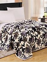 Недорогие -Фланель, Пигментная печать Цветочные / ботанический Хлопок / полиэфир одеяла