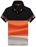 cheap -Men's Polo - Color Block Patchwork