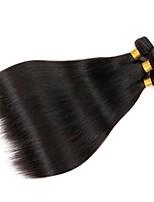 economico -4 pacchi Indiano / Mongolo Liscio Non trattati / Cappelli veri Regali / Abiti Cosplay / Ciocche a onde capelli veri 8-28 pollice Colore Naturale Tessiture capelli umani Soffice / vendita calda / 100