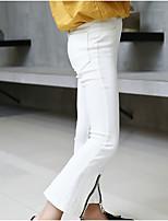 cheap -Kids Girls' Basic Solid Colored Split Cotton Pants