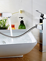 cheap -Bathroom Sink Faucet / Faucet Set - Widespread / New Design Chrome Free Standing Single Handle One Hole