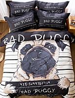 cheap -Duvet Cover Sets Cartoon 100% Cotton Reactive Print 4 Piece