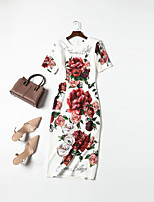 cheap -MMLJ Women's Basic / Elegant Sheath Dress - Floral
