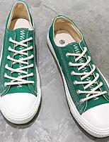 Недорогие -Муж. Полотно Весна лето Удобная обувь Кеды Черный / Красный / Зеленый