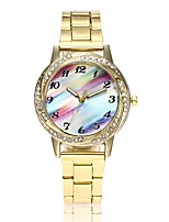 Недорогие -Жен. Нарядные часы / Наручные часы Китайский Новый дизайн / Повседневные часы / Имитация Алмазный сплав Группа На каждый день / Мода Серебристый металл / Золотистый / Розовое золото