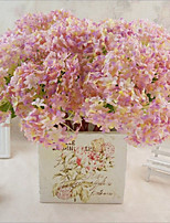 cheap -Artificial Flowers 3 Branch Classic / Single Stylish / Pastoral Style Hydrangeas Tabletop Flower