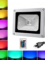 cheap -1pc 10 W LED Floodlight / Lawn Lights Waterproof / Remote Controlled / New Design RGB 85-265 V Outdoor Lighting / Courtyard / Garden