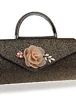 cheap -Women's Bags Polyester Evening Bag Appliques / Pearls Blue / Black / Red
