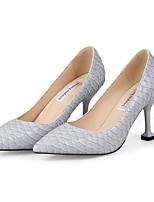 Недорогие -Жен. Балетки Полиуретан Весна Обувь на каблуках На шпильке Черный / Серый / Красный