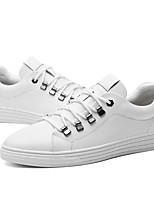 Недорогие -Муж. Комфортная обувь Кожа Весна / Осень На каждый день Кеды Белый / Черно-белый