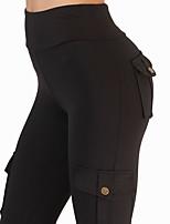 preiswerte -Damen Alltag / Ausgehen Sportlich / Grundlegend Legging - Solide Mittlere Taillenlinie