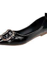 Недорогие -Жен. Обувь Полиуретан Осень Мокасины На плокой подошве На плоской подошве Заостренный носок Черный / Красный / Розовый