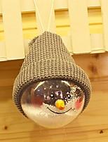 economico -Ornamenti di Natale Vacanza Stoffa (cotone) / Plastica Tonda Originale Decorazione natalizia