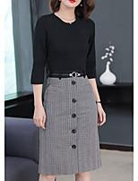 economico -Per donna Ufficio Fodero Vestito Medio
