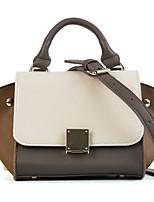 cheap -Women's Bags PU(Polyurethane) Tote Buttons Blushing Pink / Brown / Khaki