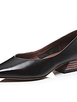 Недорогие -Жен. Обувь Наппа Leather Лето Удобная обувь Обувь на каблуках На толстом каблуке Черный / Коричневый / Зеленый