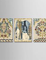 Недорогие -С картинкой Отпечатки на холсте - Религия / Цветочные мотивы / ботанический Modern