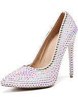 cheap -Women's Shoes PU(Polyurethane) Fall & Winter Basic Pump Wedding Shoes Stiletto Heel Pointed Toe Rhinestone / Sparkling Glitter Rainbow / Party & Evening