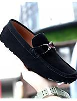 Недорогие -Муж. Комфортная обувь Замша Весна лето На каждый день Мокасины и Свитер Черный / Серый / Синий