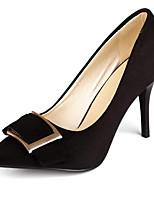 abordables -Femme Chaussures de confort Daim Printemps Chaussures à Talons Talon Aiguille Noir / Rouge / Bleu