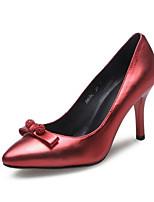 Недорогие -Жен. Обувь Наппа Leather Осень Удобная обувь Обувь на каблуках На шпильке Черный / Серый / Красный