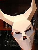 Недорогие -Праздничные украшения Украшения для Хэллоуина Маски на Хэллоуин / Хэллоуин Развлекательный Декоративная / Cool Белый / Красный 1шт
